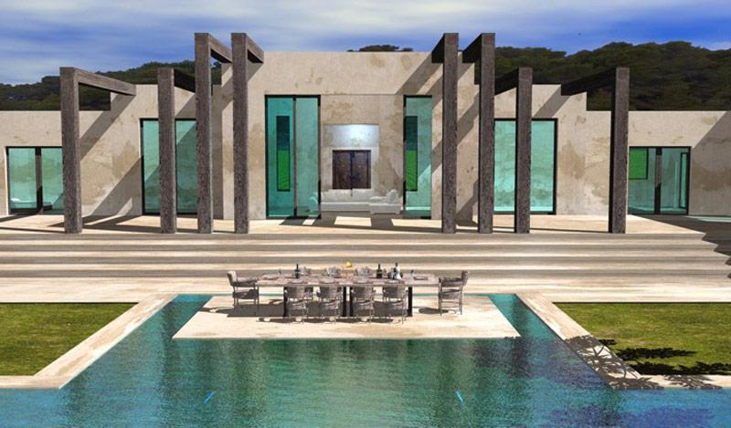 architektur minimalistisch futuristisch. Black Bedroom Furniture Sets. Home Design Ideas